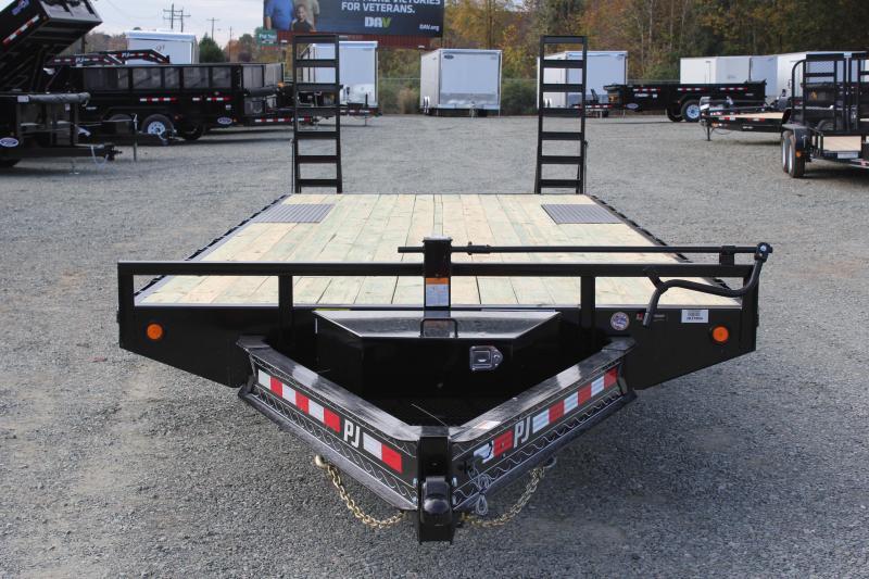 2019 PJ Trailers 24 F8 14K Deckover w/ Fold Up Ramps