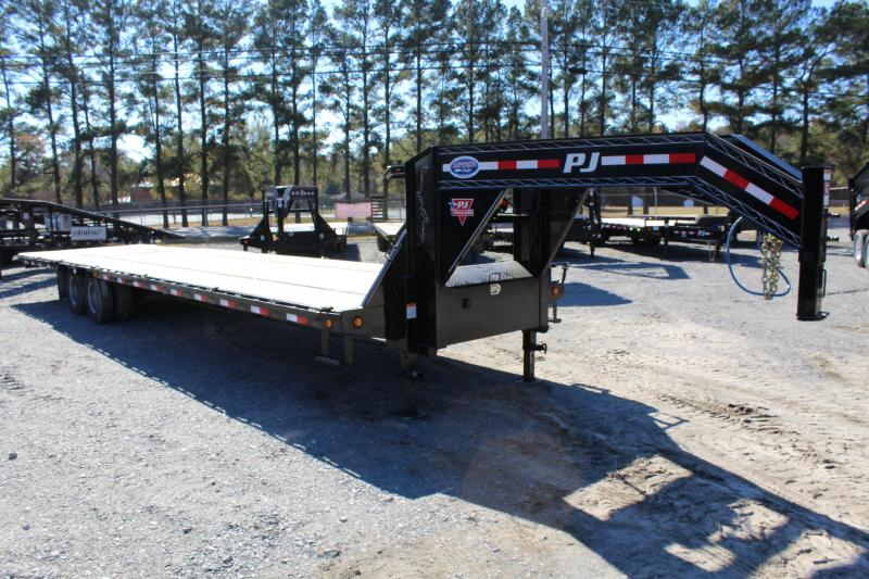2019 PJ 36ft LY Low Pro Gooseneck w/ Hydraulic Dove
