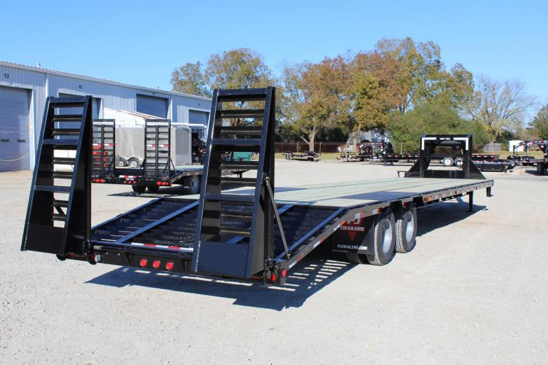 2019 PJ Trailers 38ft LD 24K GN w/ Flip Over Ramps