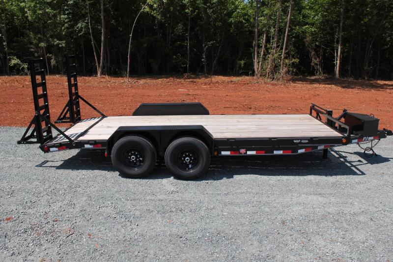 2020 PJ Trailers 18CC 14K  w/ Tongue Box and Fold Up Ramps