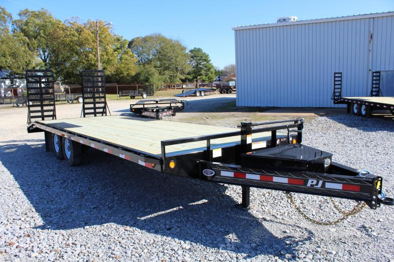 "2019 PJ Trailers 25ft F8 16K Deckover w/ 31"" X 66"" HD Fold up Ramps"