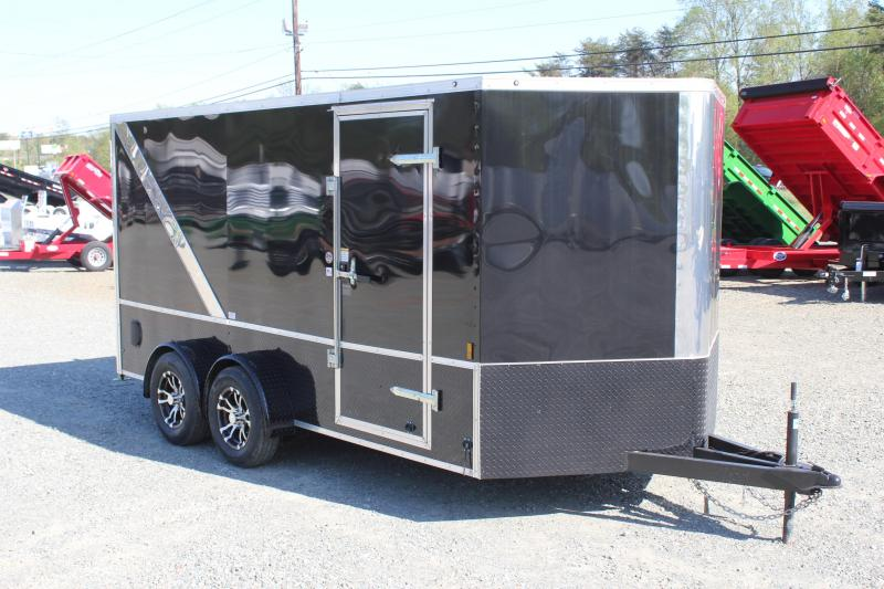 2019 Continental Cargo 7X14 LOADED Motorcycle Trailer
