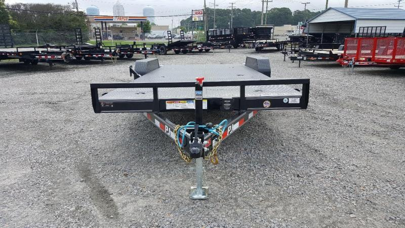 2019 PJ Trailers 20' CE 10K Equipment Trailer w/ Rear Slide in Ramps
