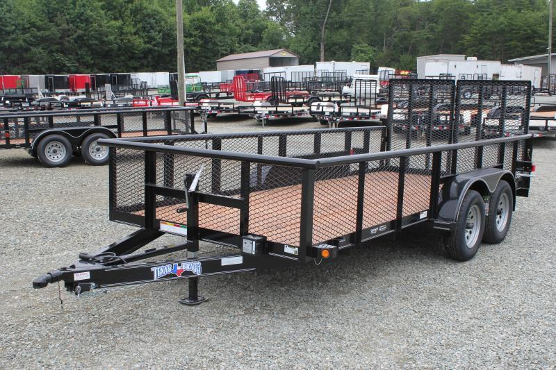 2019 Texas Bragg Trailers 16P 2ft Expanded Sides and Split HD Gate