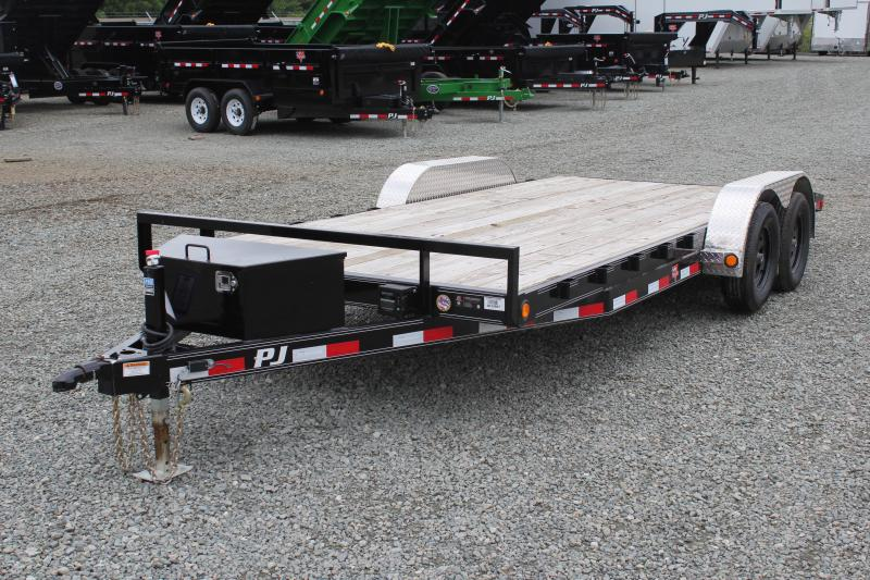 2019 PJ 18 C5 w/ Tongue Box & Rear Slide in Ramps