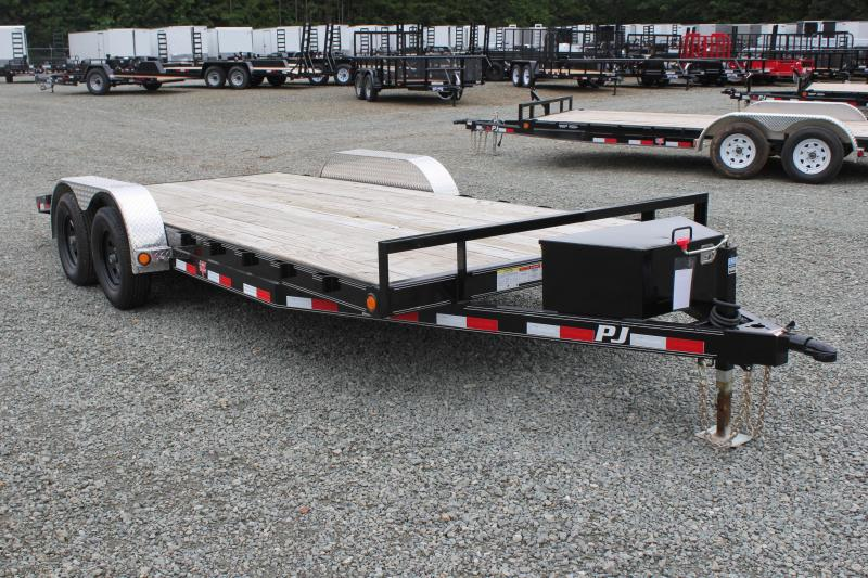 2019 PJ Trailers 18 C5 w/ Tongue Box & Rear Slide in Ramps