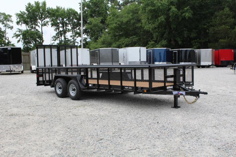 2019 Texas Bragg 20BP 10K w/ 2' Expanded Sides and Split Gate