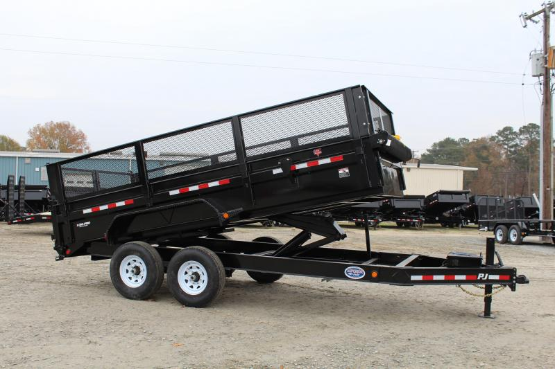 "2019 PJ Trailers 7X16 DL 14K Dump Trailer w/24"" Expanded Metal Side Extensions"
