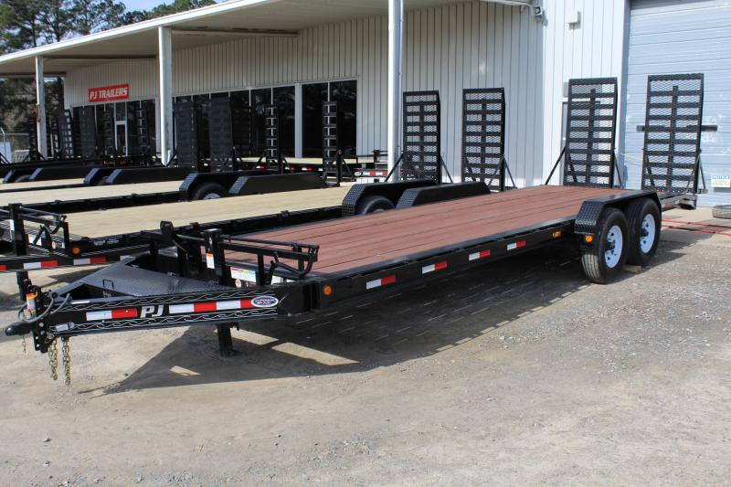 2018 PJ H4 24ft 16K w/31x66 HD Fold Up Ramps