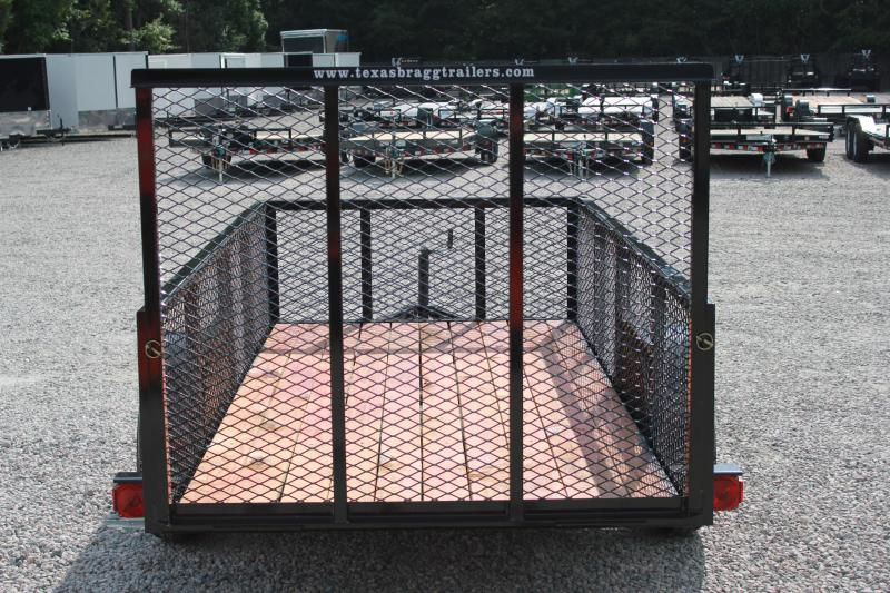 2018 Texas Bragg 5x10LD w/ 2ft Expanded Sides & Gate