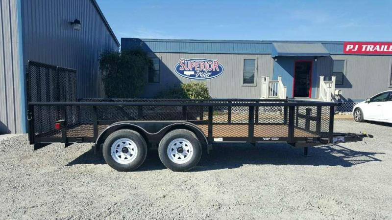 2017 Texas Bragg Trailers 16P 2ft Expanded Sides Utility Trailer