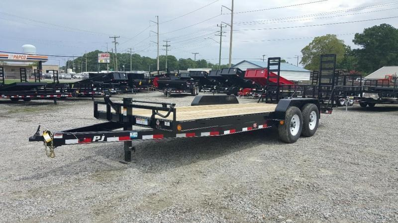 2019 PJ Trailers 20' CC 14K Equipment Trailer w/Fold Up Ramps
