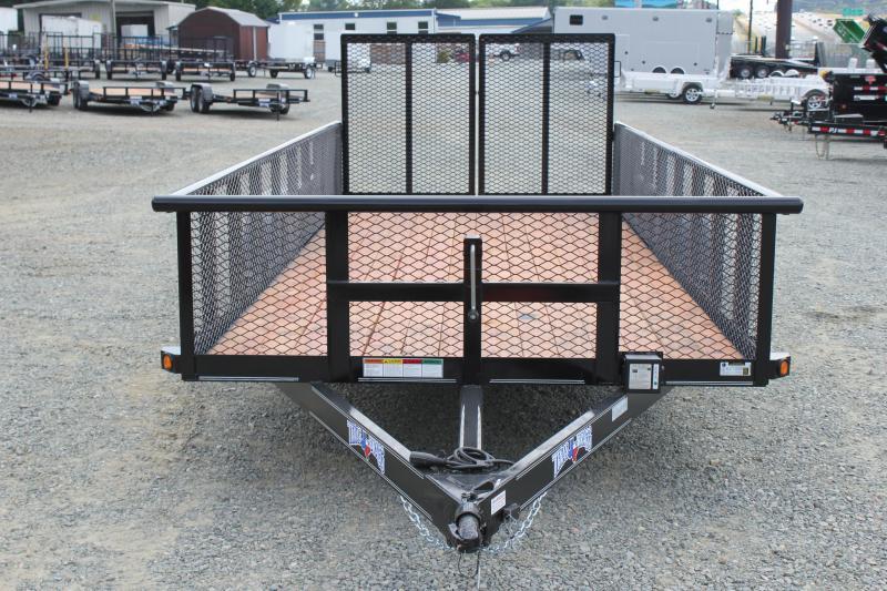 2018 Texas Bragg 18P w/ 2ft Expanded Sides & Split Gate