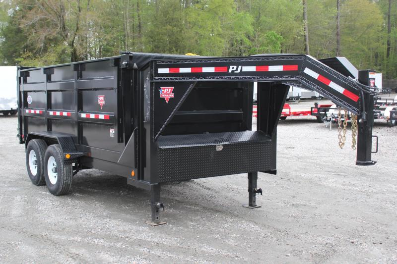 2019 PJ Trailers 7X14 DH 14K  High Side Gooseneck Dump Trailer