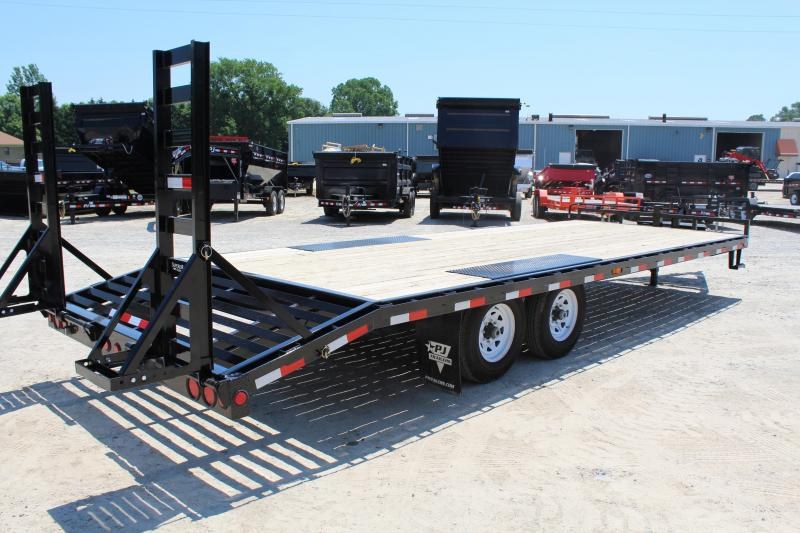 2018 PJ Trailers 24ft F8 14K Deckover w/ Fold Up Ramps
