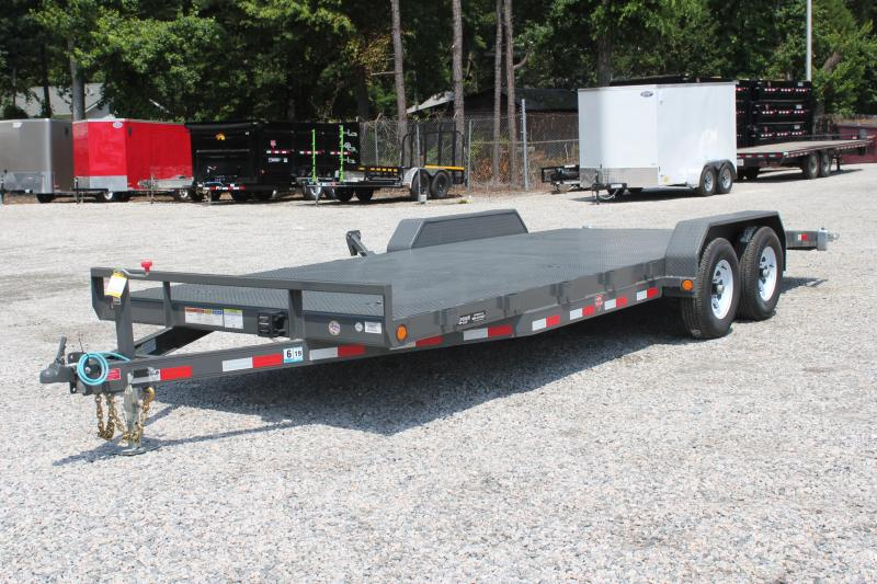 2019 PJ Trailers 22ft CE 10K Equipment Trailer w/ Rear Slide in Ramps