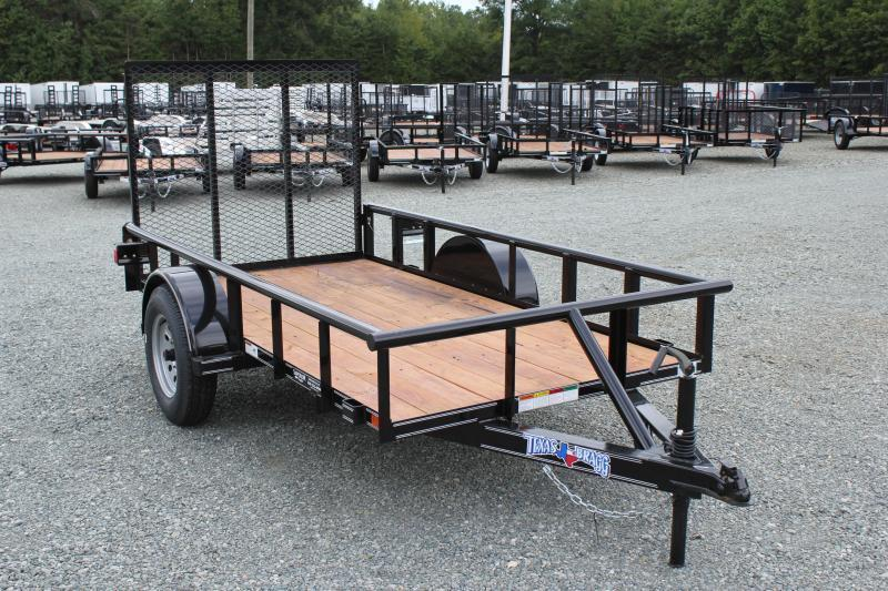 2019 Texas Bragg Trailers 5X10P w/ Gate