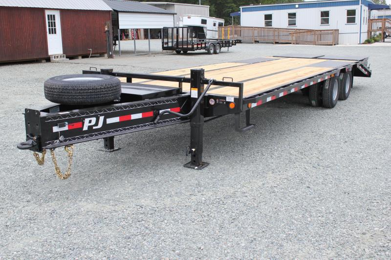 2020 PJ Low Pro 28ft PL Pintle Flatbed w/ Disc Brakes and Monster Ramps in Ashburn, VA