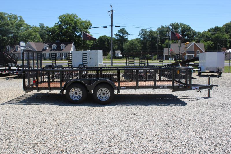 2018 Texas Bragg Trailers 18P 2ft Expanded Sides Utility Trailer