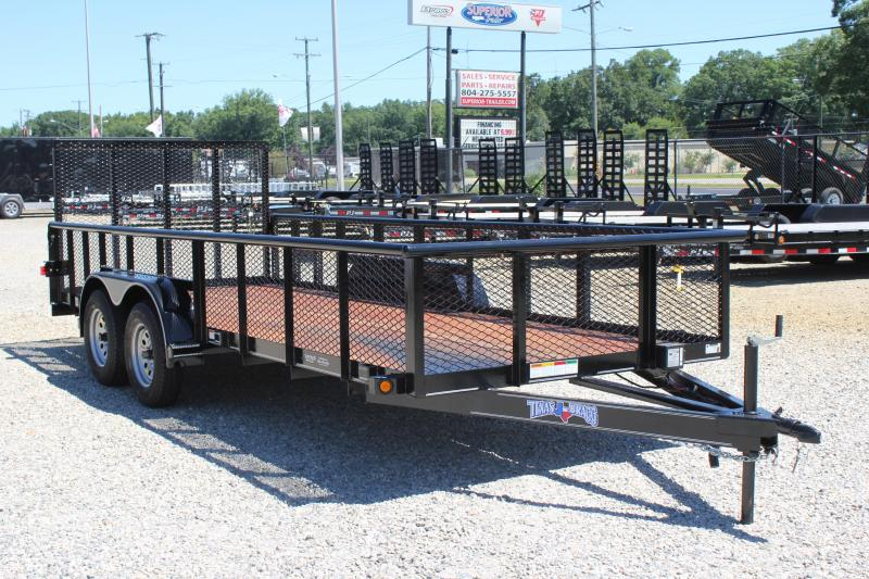 2018 Texas Bragg Trailers 18P 2ft Expanded Sides & Gate
