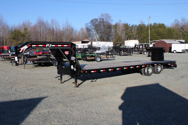 2019 PJ Trailers 32' Low Pro Gooseneck w/ Monster Ramps