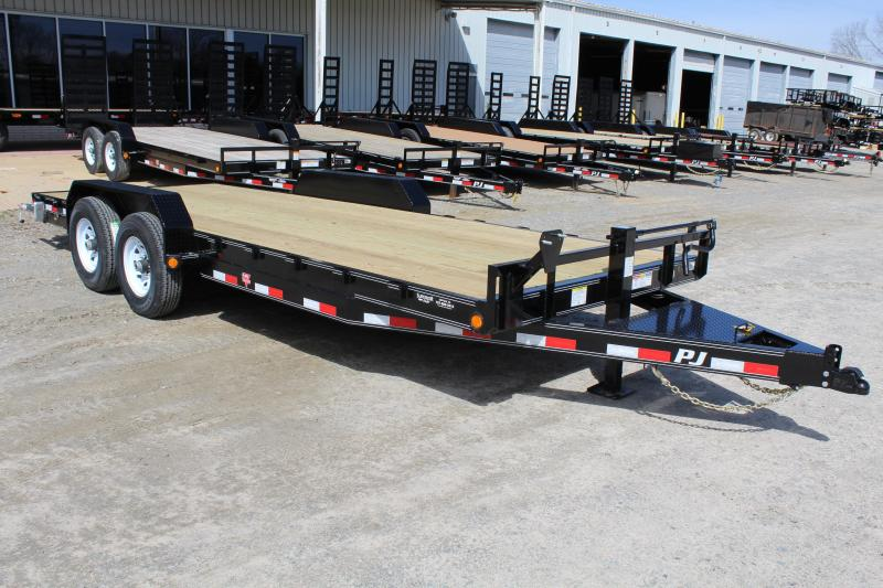 2019 PJ Trailers 20ft CC 14K Equipment Trailer w/Slide In Ramps