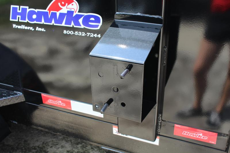 2019 Hawke 6X12 10K Dump w/ Barn Door Gate