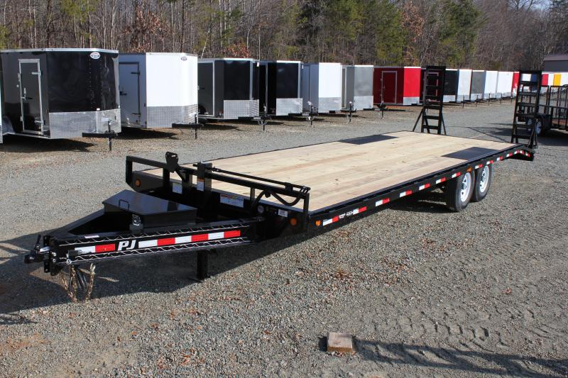 2018 PJ Trailers 26 F8 14K Deckover w/ Fold Up Ramps