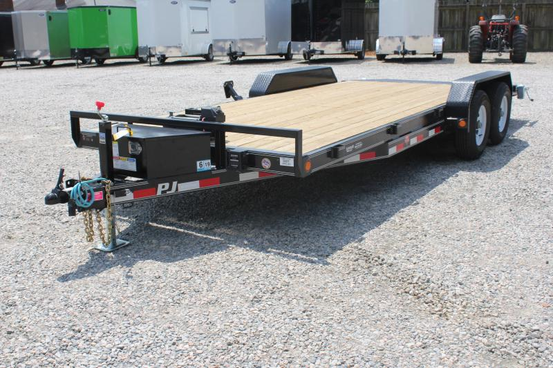 2019 PJ Trailers 20' CE 10K Trailer w/ Winch & Rear Slide in Ramps
