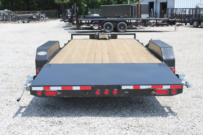 2019 PJ Trailers 20ft CE 10K Trailer w/ Winch & Rear Slide in Ramps