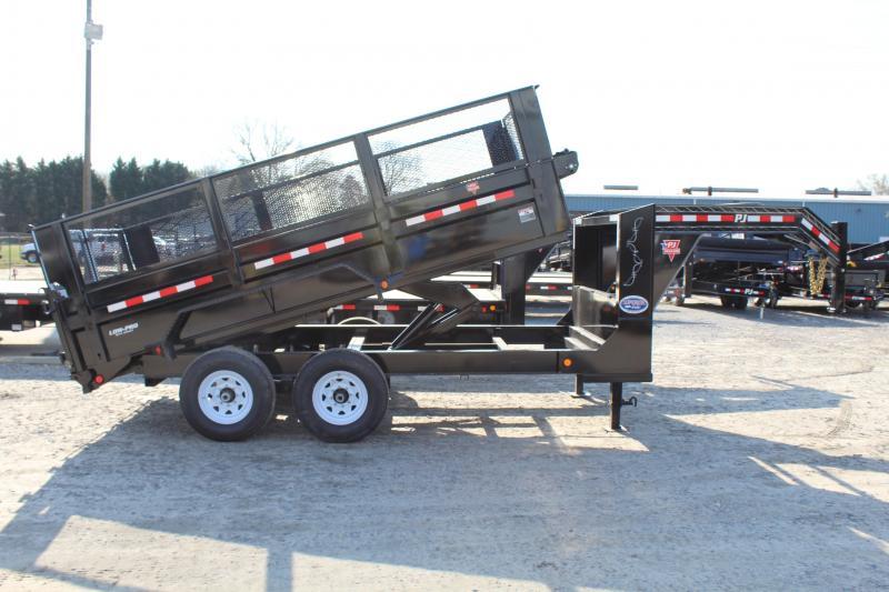 2020 PJ 7X14 DL Gooseneck Low Pro Dump Trailer