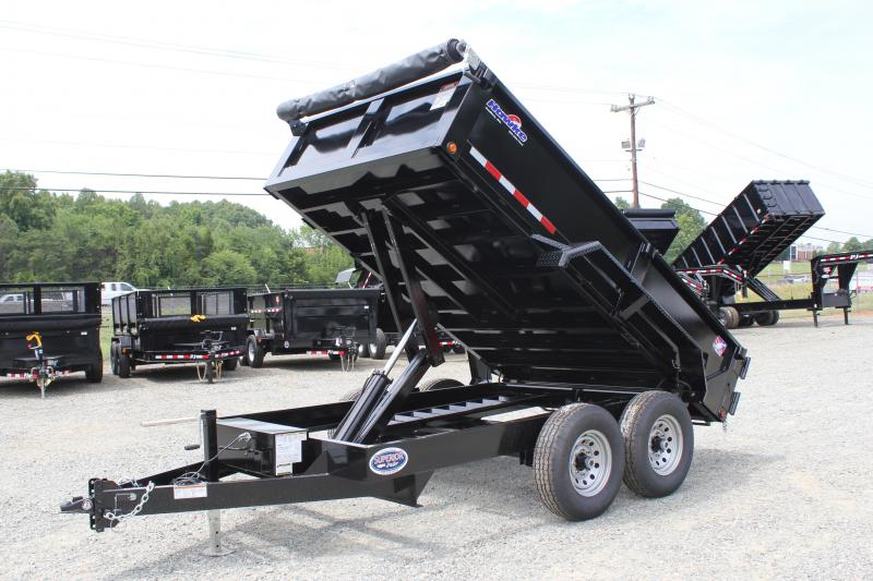 2019 Hawke 7x12 12K Dump w/ Spreader Gate & Ramps
