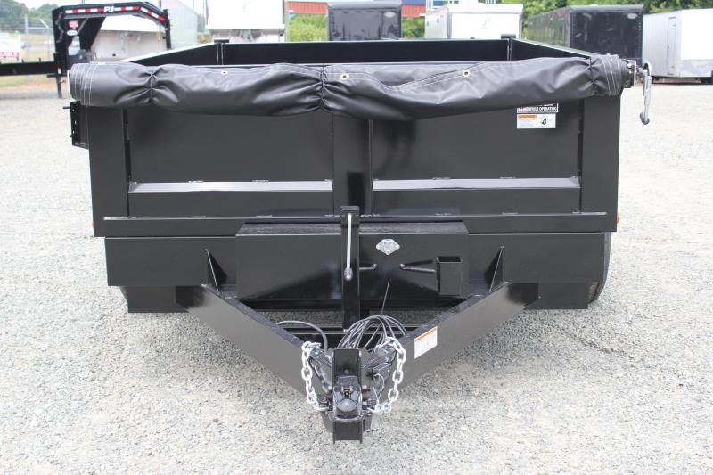 2018 Hawke 7x12 12K Dump w/ Spreader Gate & Ramps