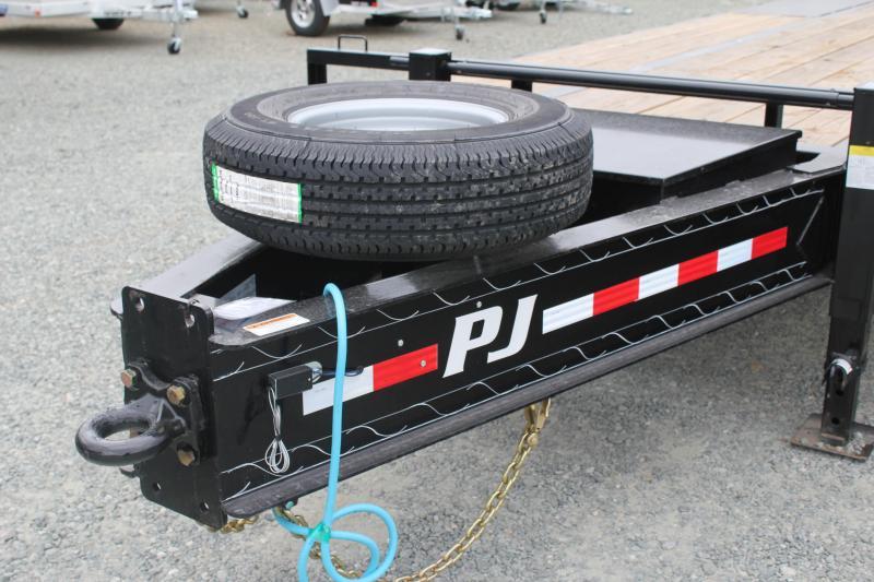 2020 PJ  PL Low Pro 26ft PL Pintle Flatbed  w/ Flip-over Ramps