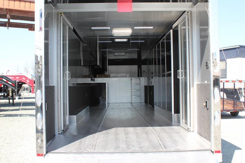 2018 inTech 8.5 x 40 Gooseneck ALUMINUM FRAME LOADED w/ Rear Glass Doors