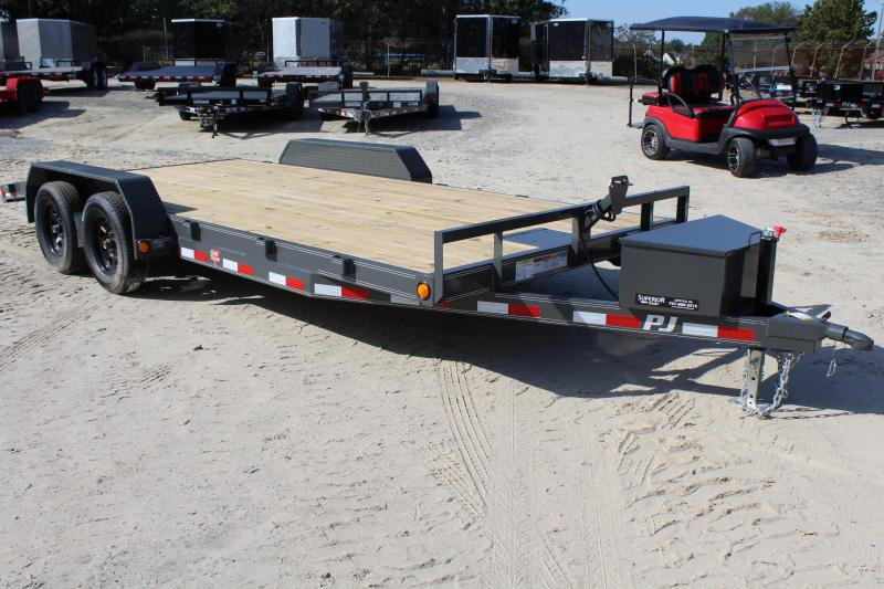 2018 PJ Trailers 18ft 7K C5 Car Trailer w/Rear Slide-In Ramps