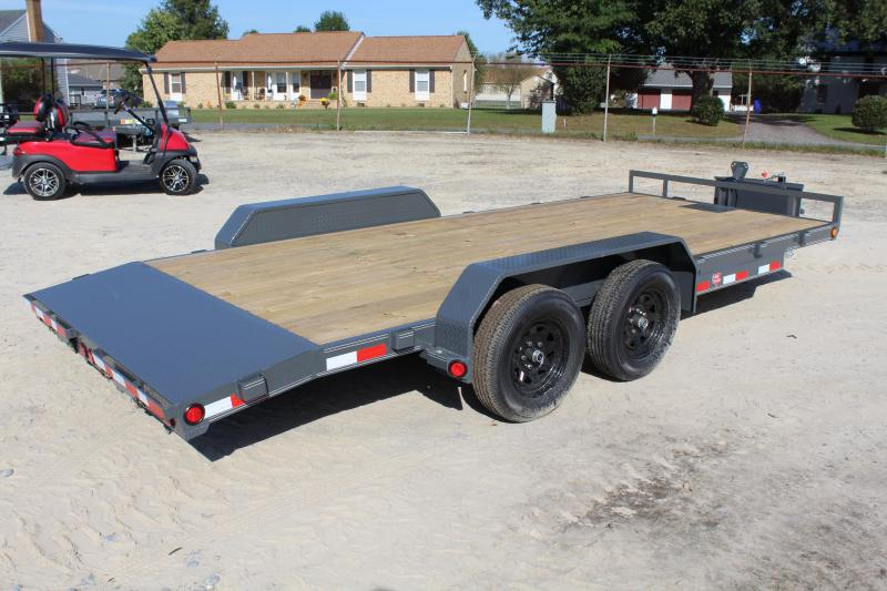 2018 PJ Trailers 18' 7K C5 Car Trailer w/Rear Slide-In Ramps