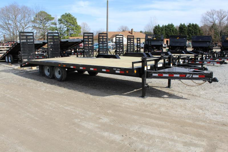 2019 PJ Trailers 24' F8 14K Deckover w/ Fold Up Ramps