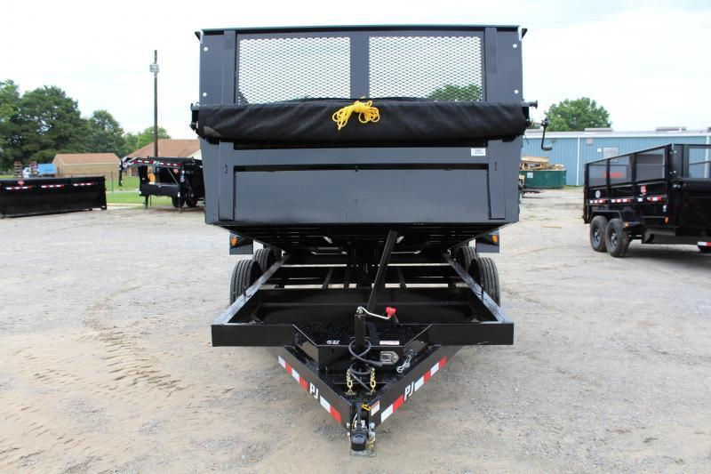 2018 PJ Trailers 7X14 D7 14K Dump Trailer 2ft Exp Metal Side Extensions