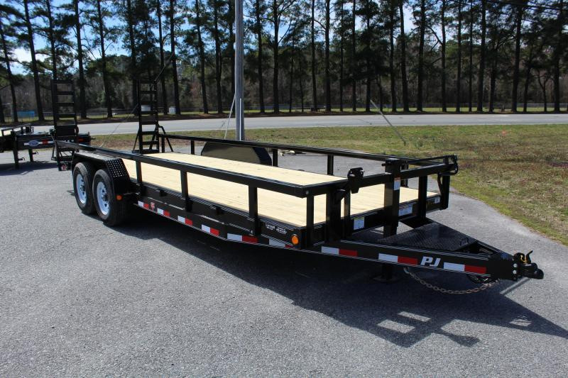 2019 PJ Trailers 22ft CC 14K w/Fold Up Ramps