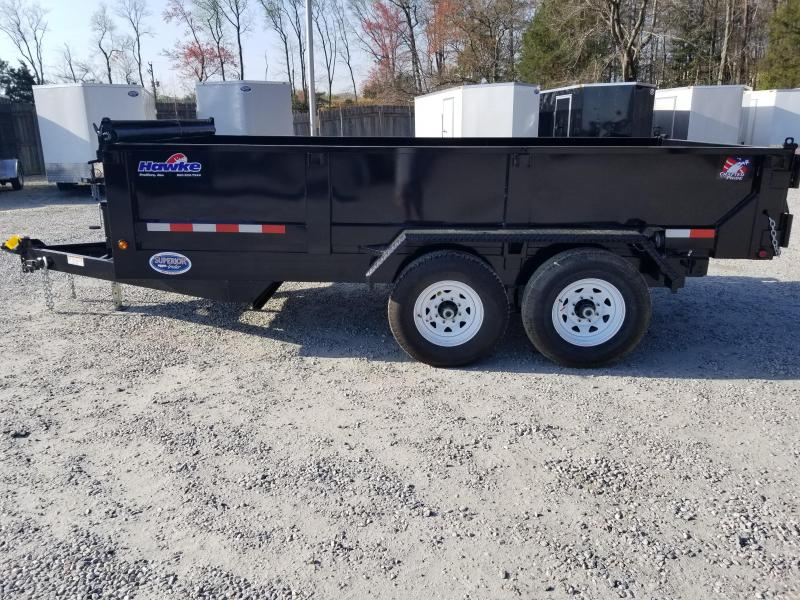 2018 Hawke 7x14 12K Dump w/ Spreader Gate & Ramps
