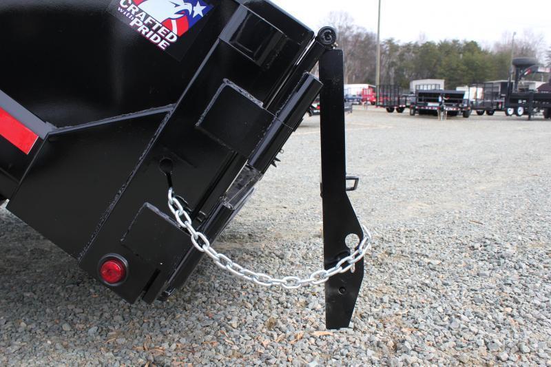 2018 Hawke 7x14 12K Dump w/ Spreader Gate Ramps & Tarp