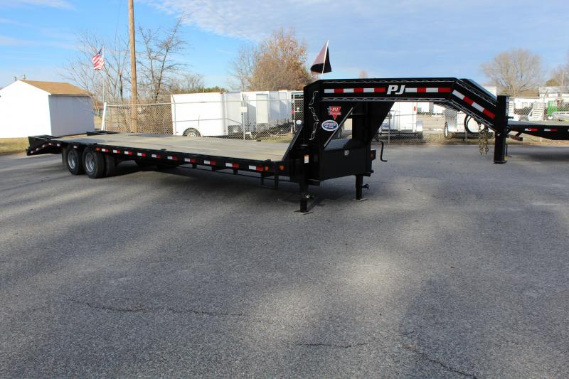 2018 PJ Trailers 34ft LD Low Pro Equipment Trailer