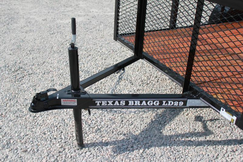 2019 Texas Bragg 5x10LD w/ 2ft Expanded Sides & Gate