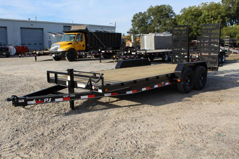 2019 PJ Trailers 20' CC 14K Equipment Trailer w/ Fold Up Ramps