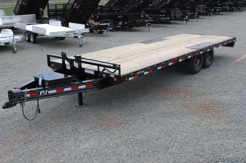 2020 PRE OWNED PJ Trailers 24 F8 14K Deckover w/ Slide In Ramps