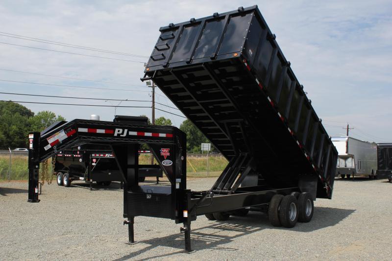 2019 PJ 8x20 DD Gooseneck Dump w/ 4' Sides & 12K Axles