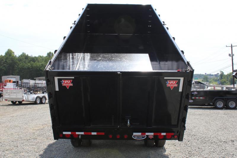 2019 PJ 8x20 DD Gooseneck Dump w/ 4' Sides &12K Axles