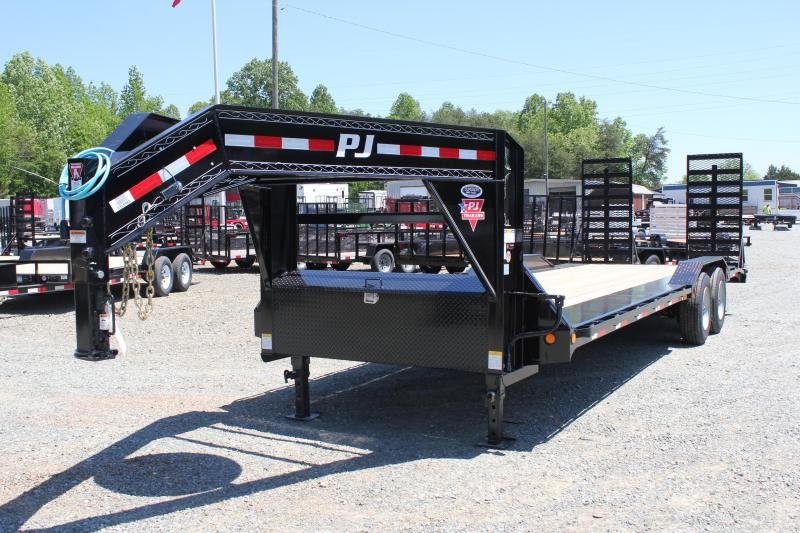 2020 PJ Trailers 26 H7 22K Gooseneck w/ 31X66 HD Fold Up Ramps