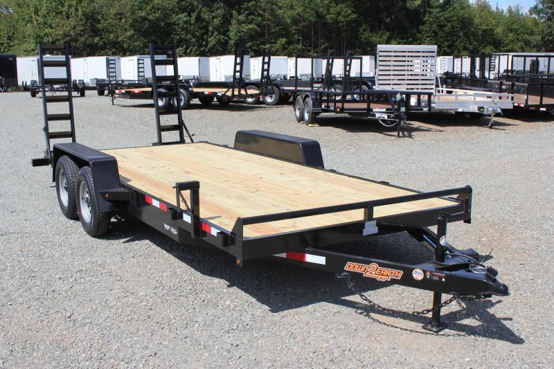 2019 Down 2 Earth 18ft 7K w/ Fold Up Ramps
